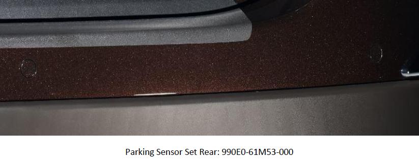 Suzuki S-Cross Parking Sensor Set Rear