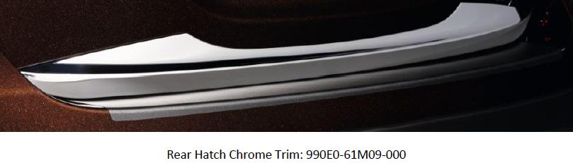 Suzuki S-Cross Rear Hatch Chrome Trim