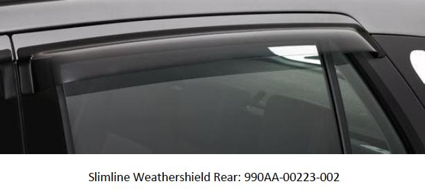 Slimline Weather Shield (Rear)