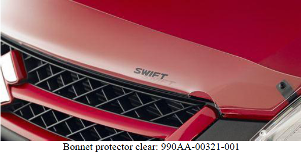Suzuki Swift Sport Bonnet Protector