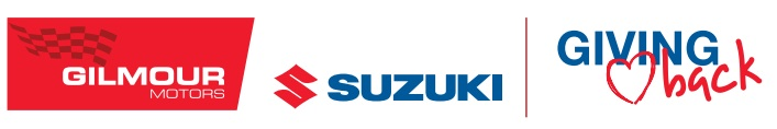 Gilmour Motors Suzuki Giving Back program logo