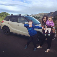 Kirstie, Noah & Tova are enjoying their new Vitara!